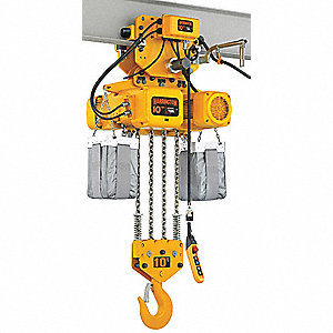 H4 Electric Chain Hoist, 20,000 lb. Load Capacity, 230V, 10 ft. Hoist Lift, 11/3.5 fpm