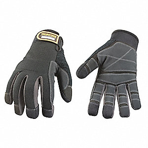 Touch Screen Mechanics Gloves, Synthetic Leather Base Layer with Non-Slip Reinforcement and Touchscr