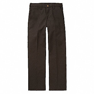 Pants,50 in.,Black,Zipper and Button