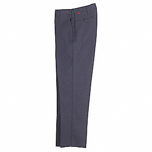 Pants,36 in.,Navy,Zipper and Button