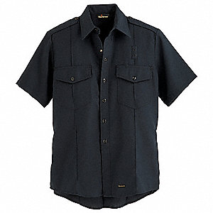 "Dark Navy Flame-Resistant Collared Shirt, Size: 42"", Fits Chest Size: 42"", 4.1 cal./cm2 ATPV Rating"
