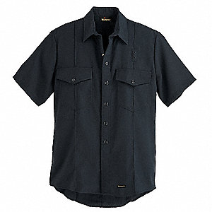 "Dark Navy Flame-Resistant Collared Shirt, Size: 44"", Fits Chest Size: 44"", 4.1 cal./cm2 ATPV Rating"