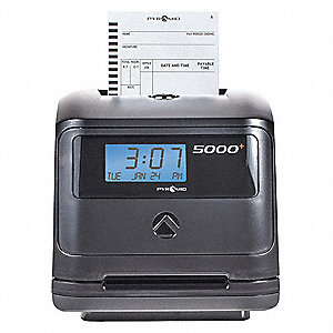 Pyramid Surface Wall Mount Card Swipe Time Clock 7 1 4 Quot H