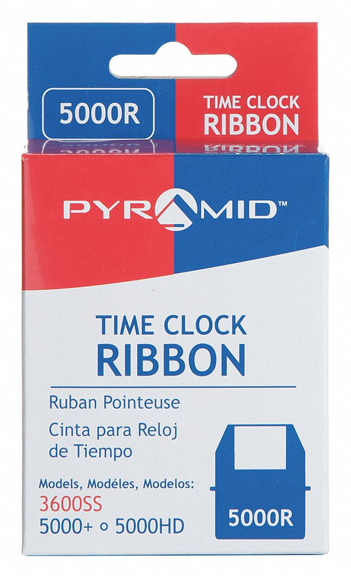 25KK02, 25KK03 Time Clock Replacement Ribbon, Black