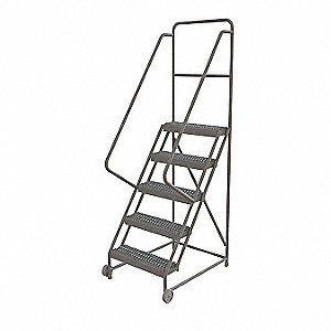 Tilt and Roll Ladder,5 Step,Serrated
