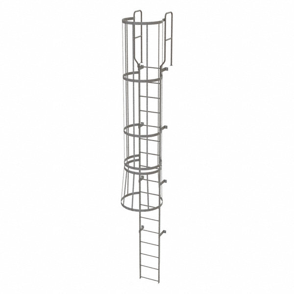 TRI-ARC 20 ft. Overall Height Steel Fixed Ladder with