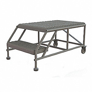 Mobile Work Platform,2 Step,Steel,20""