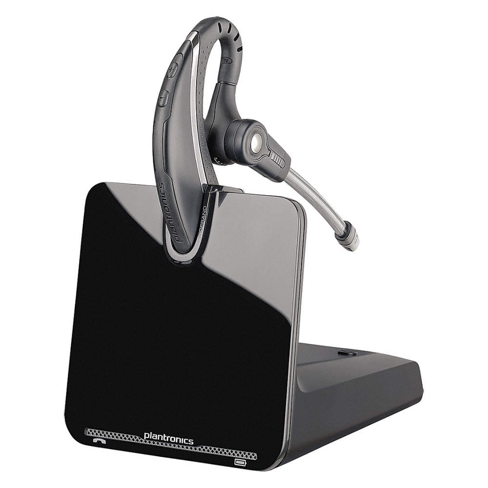 Plantronics Plastic Wireless Headset Black For Office Phones 25pj07 8630511 Grainger