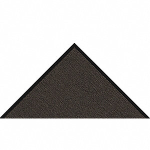 Black Dual Fiber Decalon and Polypropylene, Entrance Mat, 2 ft. Width, 3 ft. Length