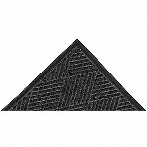 Carpeted Entrance Mat,Charcoal,3ft.x4ft.