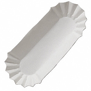 Paper Disposable Hot Dog Tray with 1/2 lb. Weight Capacity, White, 3000 PK