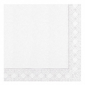 "1/4 Fold Dinner Napkin, Plain White, 8-1/2"" x 8-1/2"" Folded Size, 1200 PK"