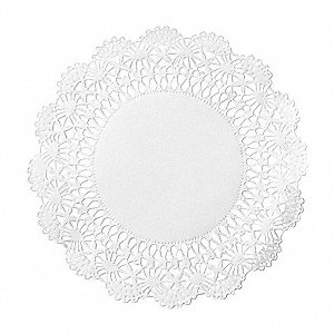 "Doily,10"",Cambridge,Paper,White,PK1000"