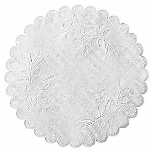 "6"" Rose Linen Disposable Paper Doily; PK1000"