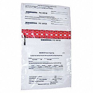 Personal Property Bag,9 x 10 In,PK250