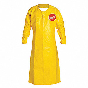 Sleeved Apron,52in,Tychem(R),PK12