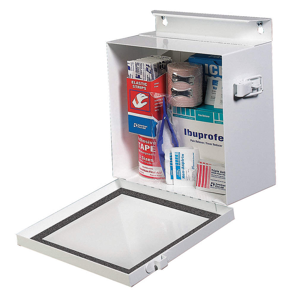 Empty First Aid Cabinet, Sand, Steel