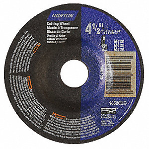 "4-1/2"" Type 27 Aluminum Oxide Depressed Center Wheels, 7/8"" Arbor, 1/8""-Thick, 13,580 Max. RPM"