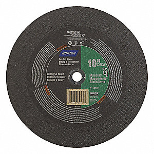 "10"" Type 1 Silicon Carbide Abrasive Cut-Off Wheel, 5/8"" Arbor, 0.0937""-Thick, 6110 Max. RPM"