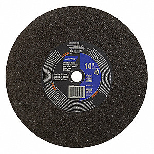 "14"" Type 1 Aluminum Oxide Abrasive Cut-Off Wheel, 1"" Arbor, 0.1094""-Thick, 4365 Max. RPM"
