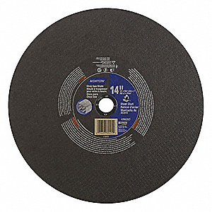 "14"" Abrasive Cut-Off Wheel, 7/64"" Thickness, 1"" Arbor Hole"