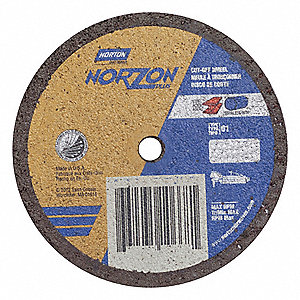 "CutOff Wheel,NorZon Plus,3""x.035""x1/4"""