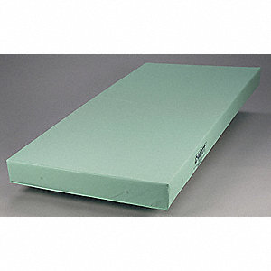 "8 oz. Polyester Institutional Mattress, Clear, 75"" x 36"" x 4"""
