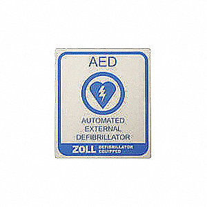 AED PLUS VEHICLE DECAL - 10 EACH.