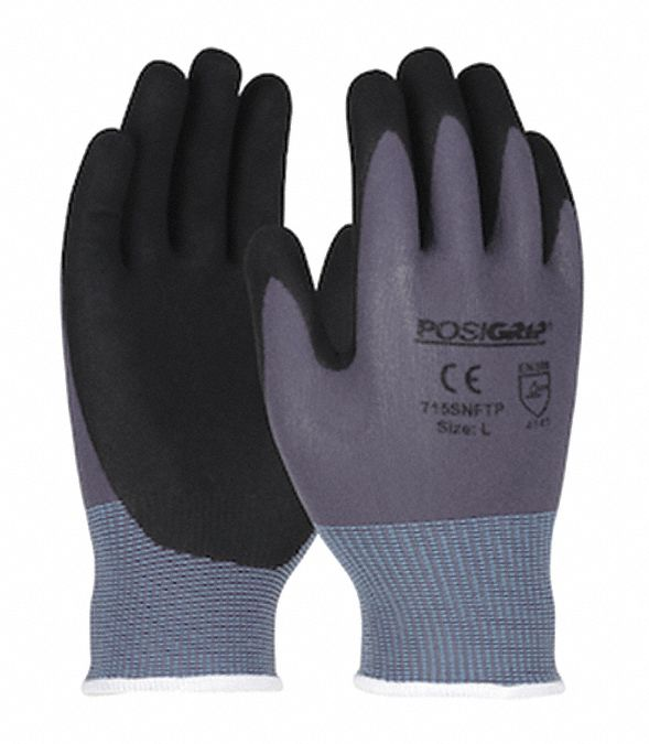 Coated Gloves,  Seamless Knit,  L,  PK 12