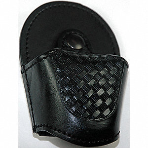Handcuff Pouch, Snap, Leather, Black