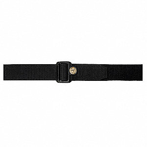 Logo Belt, Nylon, Black, Size: L