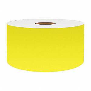 2IN FLUORESCENT YELLOW VINYL, 75FT