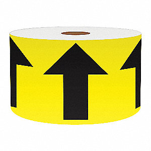 3IN YELLOW WITH BLACK ARROWS, 150FT