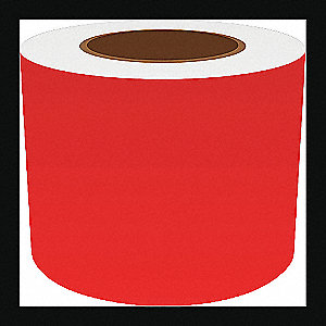 4IN RED VINYL TAPE, 150FT