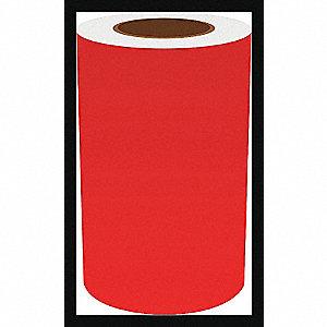8IN RED VINYL TAPE, 150FT