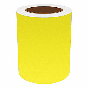 6IN FLUORESCENT YELLOW VINYL, 75FT