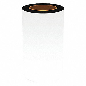 "Continuous Vinyl Label Tape, White, 8""W x 50 ft."