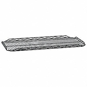 "36""W x 14""D Wire Shelf, Epoxy Finish, 250 lb. Shelf Capacity, Black"