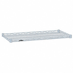 "36""W x 21""D Wire Shelf, Epoxy Finish, 250 lb. Shelf Capacity, White"