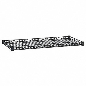 "36""W x 18""D Wire Shelf, Epoxy Finish, 250 lb. Shelf Capacity, Black"