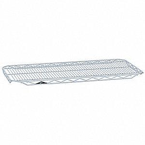 "48""W x 24""D Wire Shelf, Epoxy Finish, 300 lb. Shelf Capacity, White"