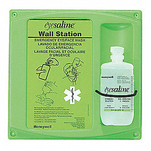 EYEWASH WALL STATION, SINGLE, 16 OZ