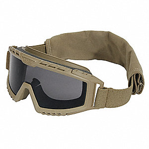 TACT GOGGLE, TAN FRM/GRY LENS HC/AF