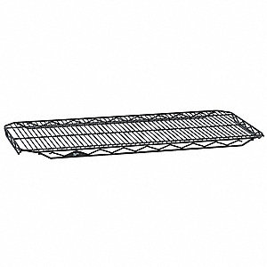 "48""W x 21""D Wire Shelf, Epoxy Finish, 300 lb. Shelf Capacity, Black"