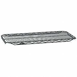 "48""W x 18""D Wire Shelf, Epoxy Finish, 300 lb. Shelf Capacity, Smoked Glass"