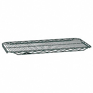 "48""W x 18""D Wire Shelf, Epoxy Finish, 250 lb. Shelf Capacity, Hunter Green"