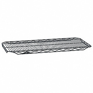 "36""W x 14""D Wire Shelf, Epoxy Finish, 250 lb. Shelf Capacity, Silver Hammertone"