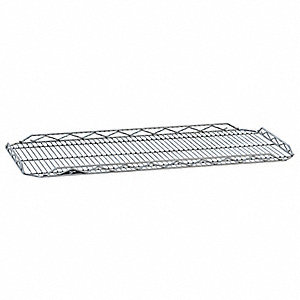 "48""W x 21""D Wire Shelf, Chrome Plated Finish, 250 lb. Shelf Capacity, Silver"