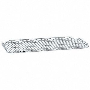 "48""W x 18""D Wire Shelf, Chromate Finish, 250 lb. Shelf Capacity, Silver"