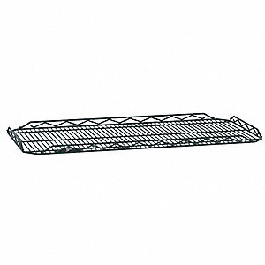 "48""W x 24""D Wire Shelf, Epoxy Finish, 250 lb. Shelf Capacity, Smoked Glass"